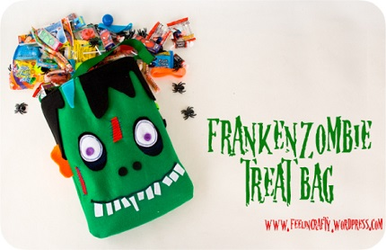 Tutorial: FrankenZombie Halloween treat bag