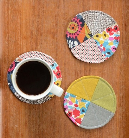 Tutorial: Scrappy circle coasters