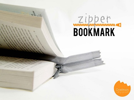 Tutorial: Stay put zipper bookmark