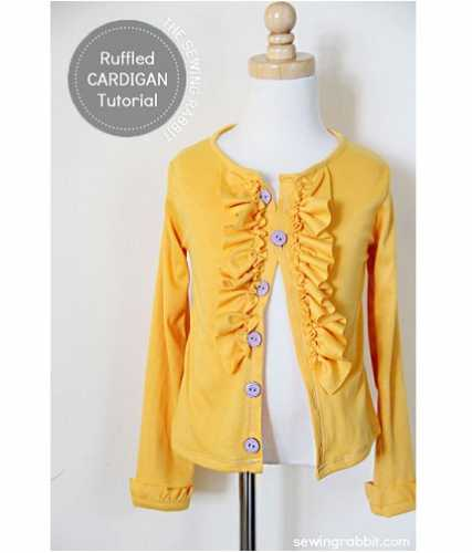 Tutorial: Little girl's ruffled cardigan