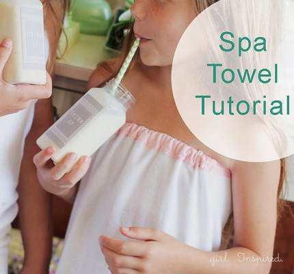 Tutorial: Girl's spa towel wrap