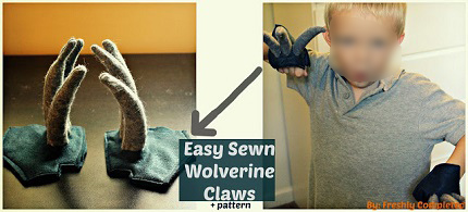 Tutorial: Wolverine claw gloves for a Halloween costume