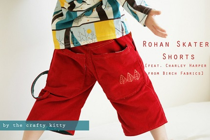 Free pattern Rohan Skater Shorts for little boys