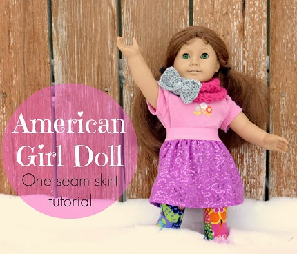 Tutorial: Easy American Girl doll skirt from baby clothes