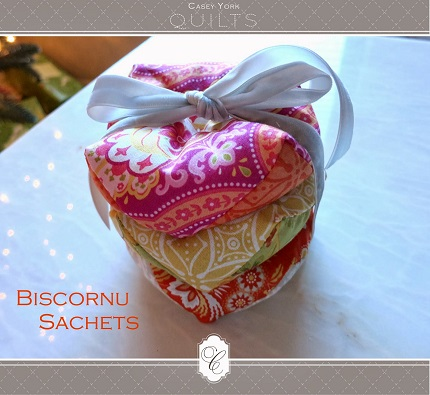 Tutorial: Biscornu sachet or pincushion