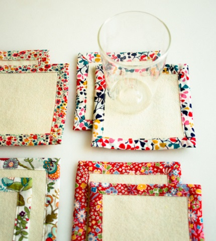 Tutorial: Floral frame coasters