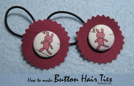 Tutorial: Covered button hair ties