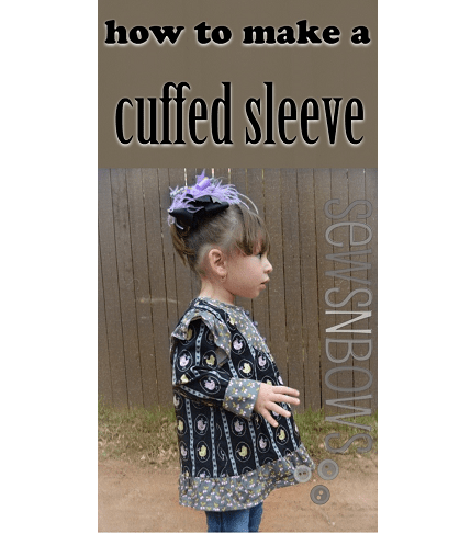 Tutorial: Change an elasticized sleeve pattern to a cuff sleeve