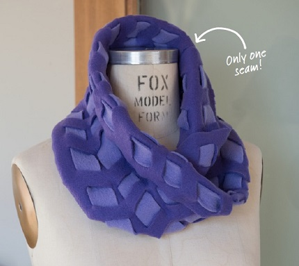 Tutorial: Low-sew woven fleece cowl