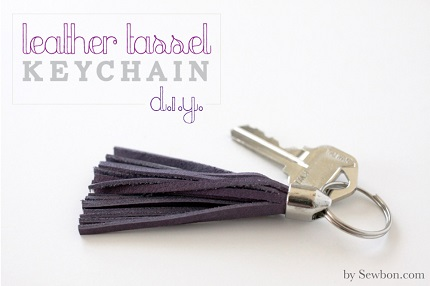 Tutorial: Leather tassel keychain
