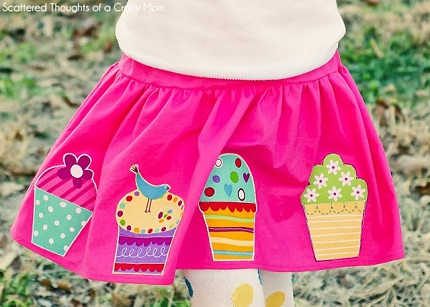 Tutorial: Girl's cupcake applique skirt