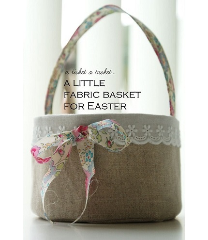 Tutorial: Linen and lace Easter basket