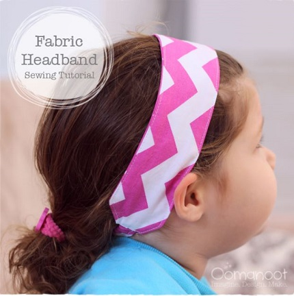 Tutorial: Scrap fabric headband