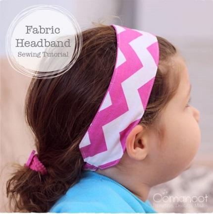 Tutorial: Scrap fabric headband