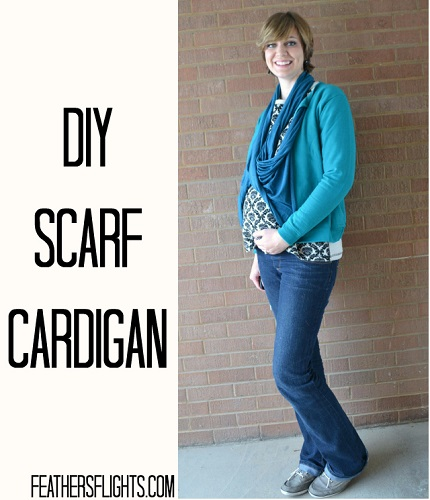 Tutorial: 10-minute scarf cardigan