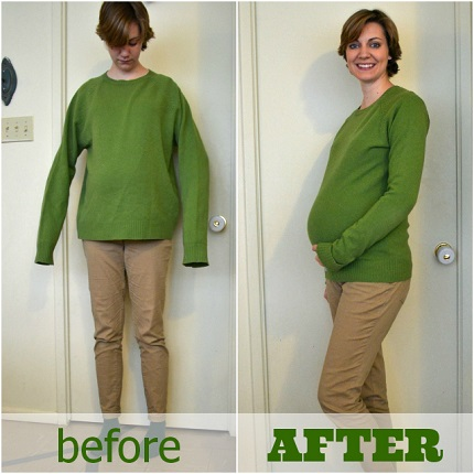 Tutorial: Maternity sweater refashion