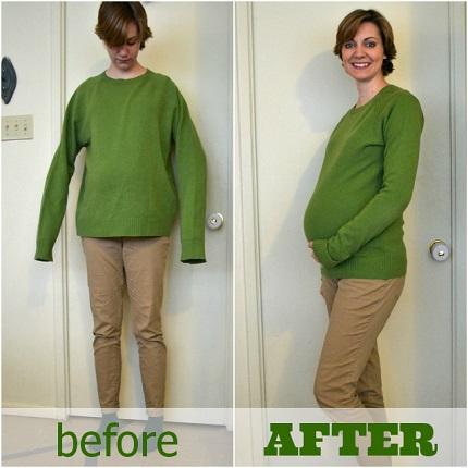 Tutorial: Maternity sweater refashion