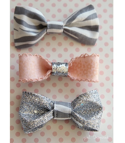Tutorial: Pretty little bow hair clips