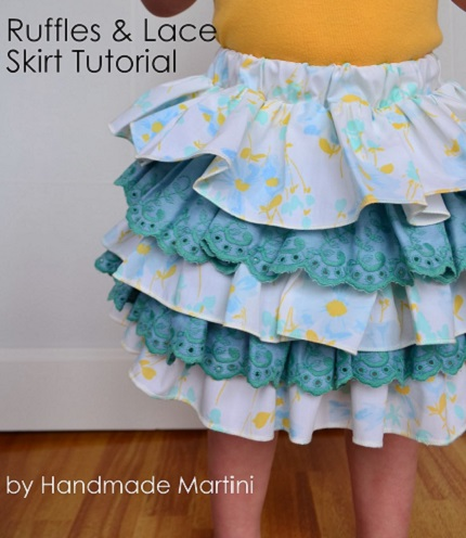 Tutorial: Ruffles and Lace Skirt for little girls