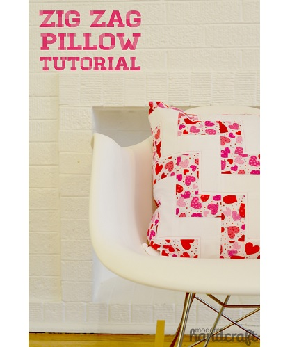 Tutorial: Pieced zig zag pillow cover