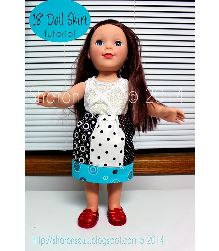 "Tutorial: Pieced panel skirt for an 18"" doll"