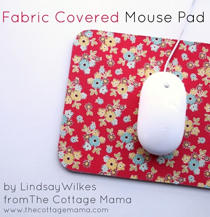 Tutorial: Fabric covered mouse pad