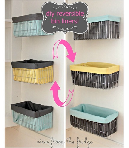 Tutorial: Reversible Wire Bin Liners