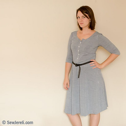 Tutorial: Button front variation for the Lady Skater dress