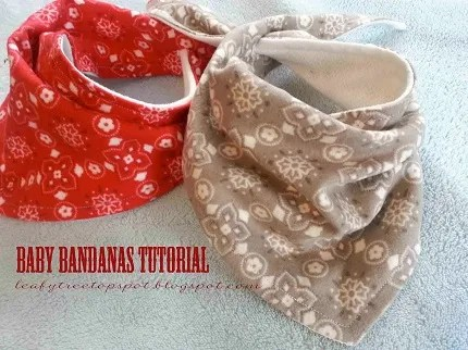 Free pattern baby bandana dribble bibs sewing
