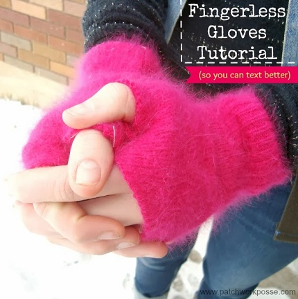Tutorial: Fingerless gloves from an old sweater