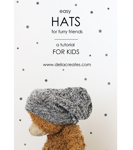 Tutorial: Simple hats kids can make for their stuffed animals