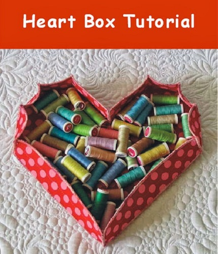 Free pattern: Fabric heart box