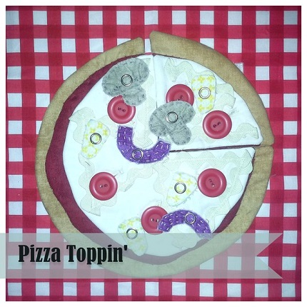 Tutorial: Pizza Toppin' quiet book page or play food