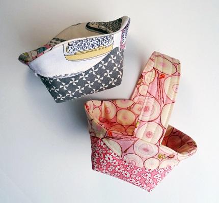 Free pattern: Scalloped edge fabric basket