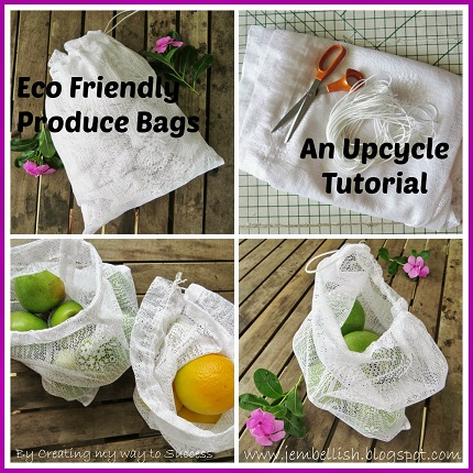 Tutorial: Make reusable produce bags from a lace net curtain