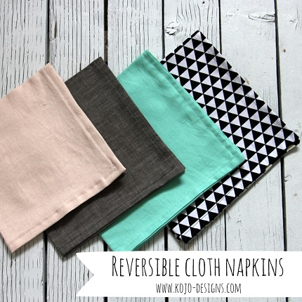 Tutorial: Easy reversible fabric napkins