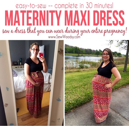 Tutorial: Maternity maxi dress