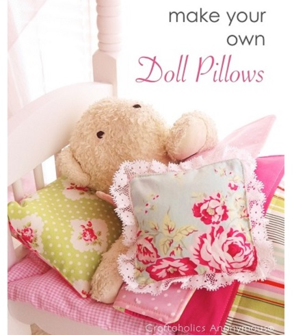Tutorial: Pillows for a doll bedding set