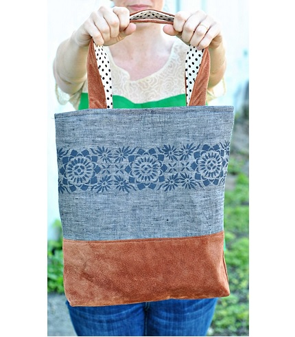 Tutorial: Linen and Lace Tote