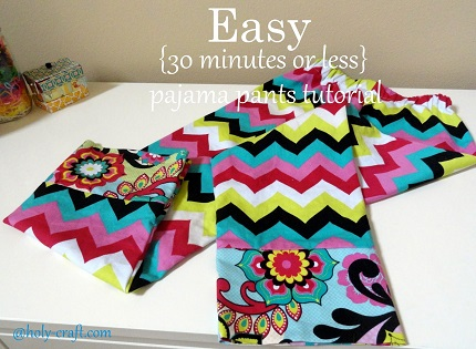 Tutorial: 30-minute pajama pants