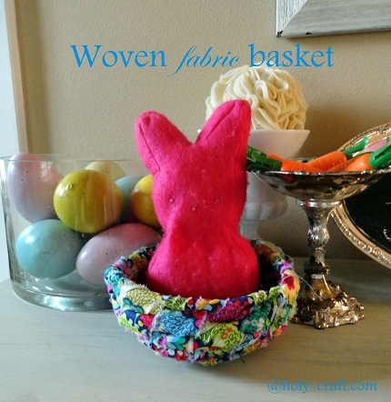 Tutorial: Woven fabric basket basket, no sewing required