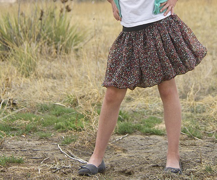 Tutorial: Flouncy bubble skirt with a wide elastic waistband