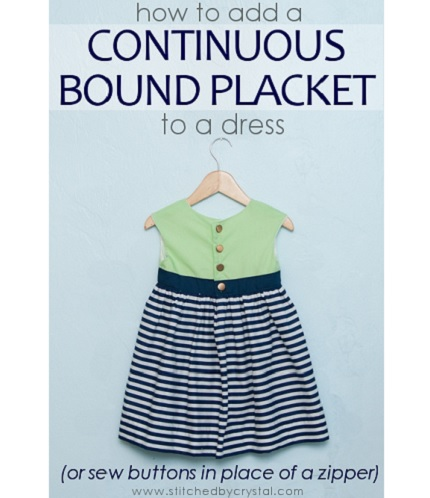 Tutorial: How to make a continuous bound placket