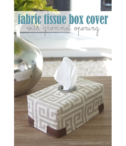 Tutorial: Tissue box cover with grommet opening
