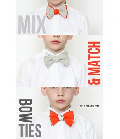 Free pattern: Mix and Match Bow Ties