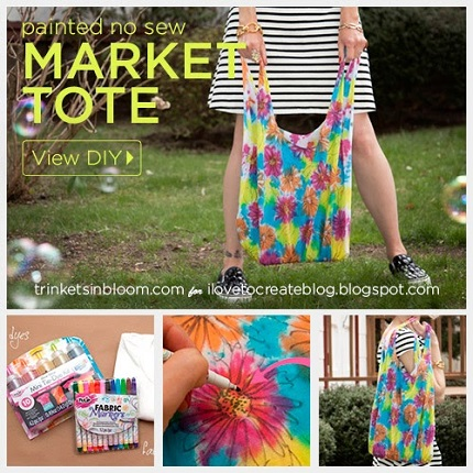 Tutorial: Painted No-Sew Market Tote