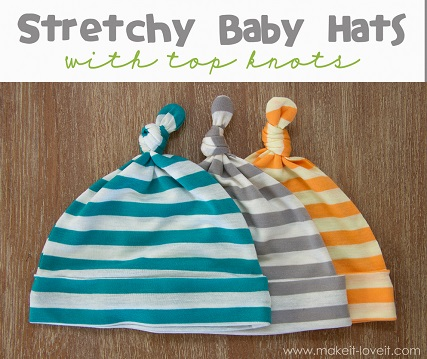 Free Pattern Knot Top Baby Hats Sewing