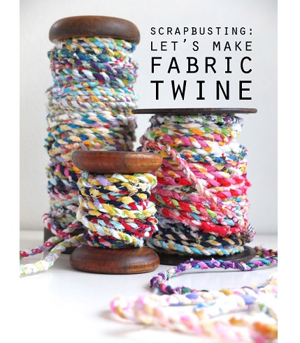 Tutorial: Scrap fabric twine