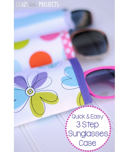 Tutorial: Easy 3 step sunglasses case