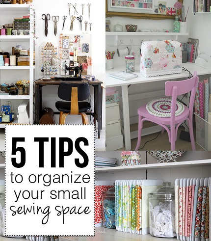 5 tips for organizing a small sewing space